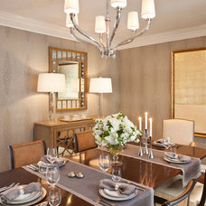 Transitional Dining Room by Smith Firestone Associates