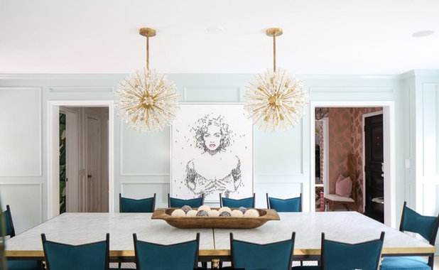 Midcentury Dining Room by Design Works