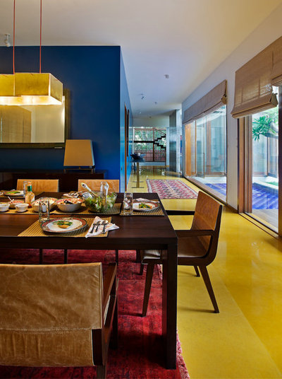 Eclectic Dining Room by Khosla Associates