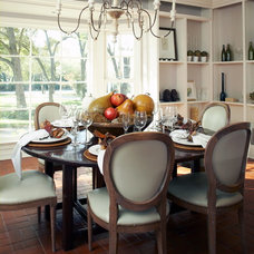 Traditional Dining Room by Bill Bolin Photography