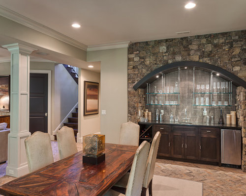 Inspiration For A Timeless Dining Room Remodel In Other With Gray Walls
