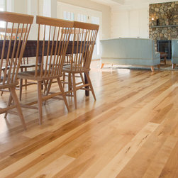 Hull Forest Products - Birch Wood Floors - Natural grade wide plank Birch flooring from Hull Forest Products.  Photo by Damianos Photography.