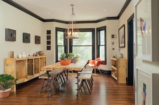 Industrial Dining Room by McIntosh Poris Associates