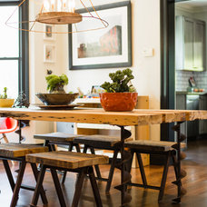Industrial Dining Room by McIntosh Poris Associates