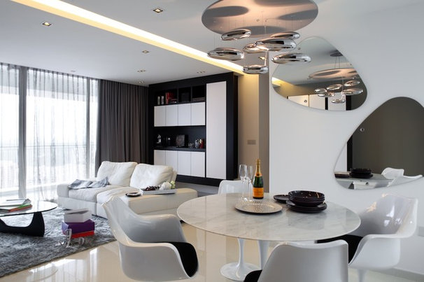 Contemporary Dining Room by Black N White House