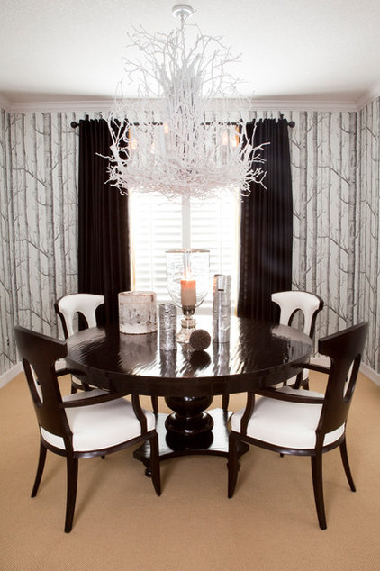 Contemporary Dining Room by R. Cartwright Design