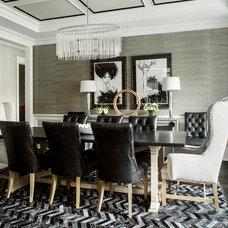 Transitional Dining Room by Karen B Wolf Interiors, Associate ASID