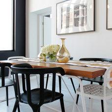 Contemporary Dining Room by Laura Garner