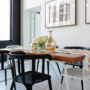 Example of a trendy dining room design in Montreal