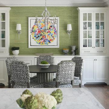 Black, White and Green Kitchen