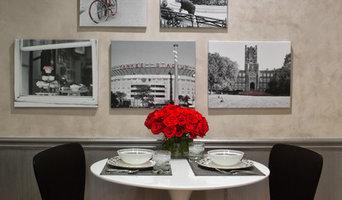Black, White & Red Kitchen