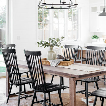 Black Windsor Chairs in Urban Farmhouse Magnolia Home-Style Room