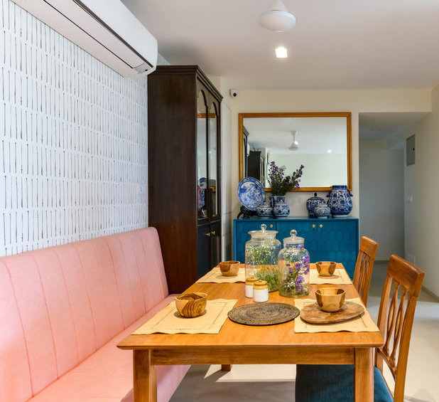 Coastal Dining Room by Sameer Chawda Photography