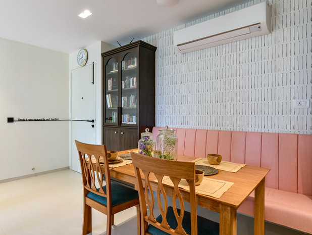 Coastal Dining Room by Sameer Chawda Photography