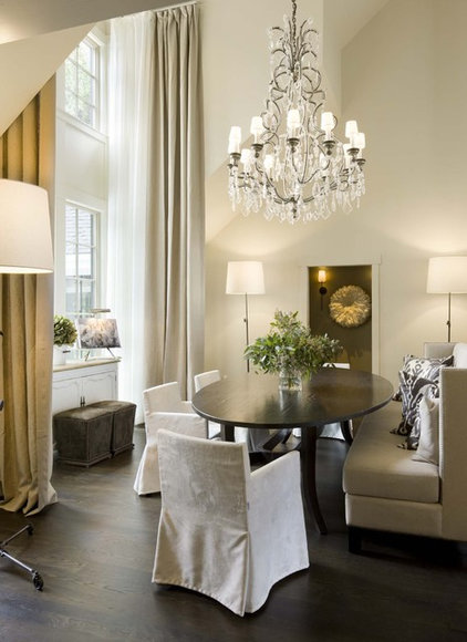 Transitional Dining Room by Ruggles Mabe Terrell