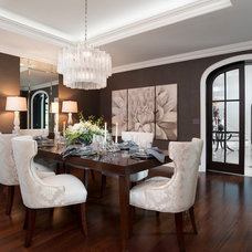 Transitional Dining Room by Tutto Interiors
