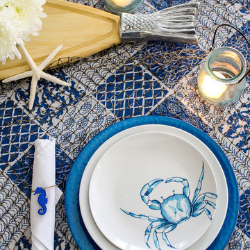 Blue & White Coastal Tablescape