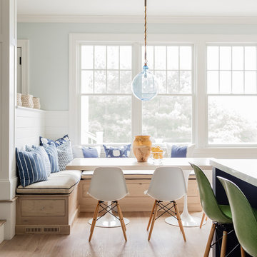 Blue and White Kitchen by the Ocean