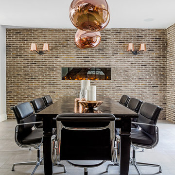 Blue-Grey Shaker Kitchen with Copper