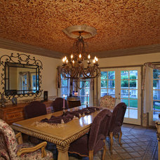 Mediterranean Dining Room by Green Scene Landscaping & Pools