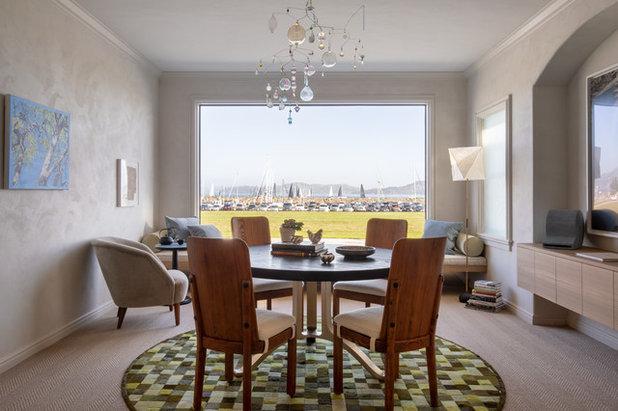 Transitional Dining Room by David  Duncan Livingston