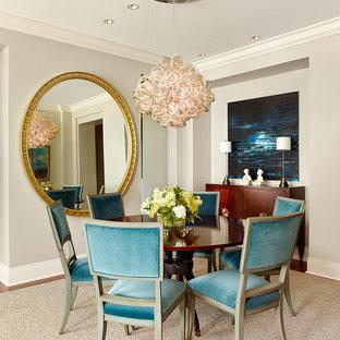 Blue Velvet Dining Room