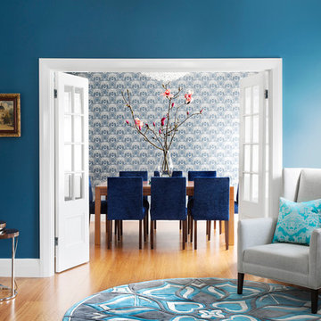 Blues in Kew Living and Dining Room