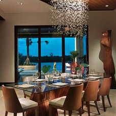 Tropical Dining Room by Slifer Designs
