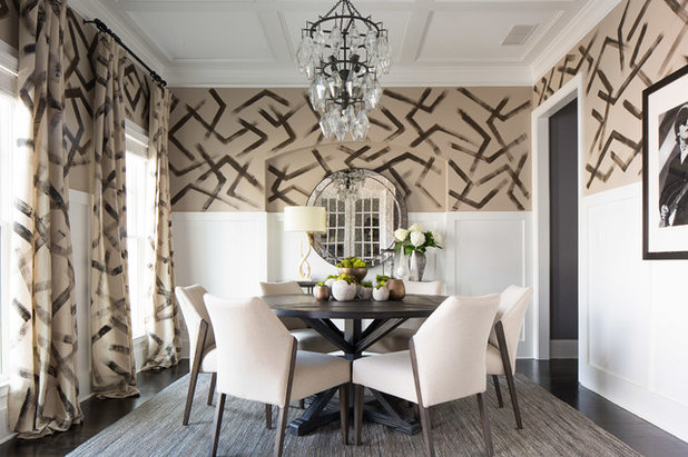 Transitional Dining Room by FORBES + MASTERS