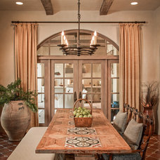Mediterranean Dining Room by Thompson Custom Homes