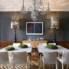Eclectic Dining Room by Ruhl Walker Architects