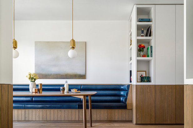 Transitional Dining Room by Luigi Rosselli Architects
