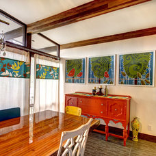 Midcentury Dining Room by Mindi Freng Designs