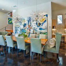 Contemporary Dining Room by Bryant Hill Media