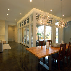 contemporary dining room by Cornerstone Architects