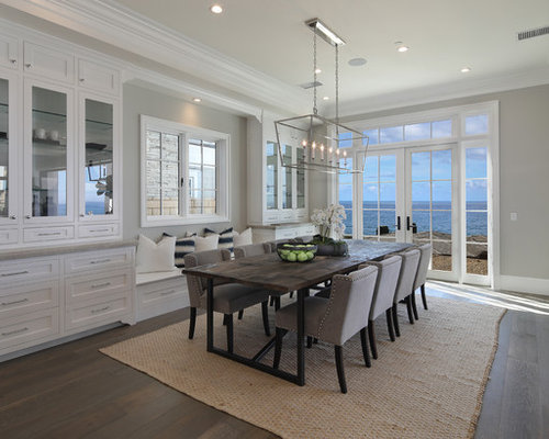 Orange county dining room design ideas renovations for Orange and grey dining room