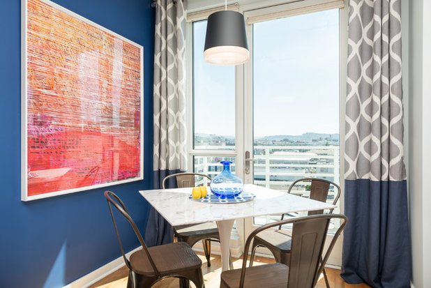 Transitional Dining Room by In the Deets