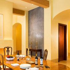 Mediterranean Dining Room by BraytonHughes Design Studios