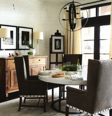contemporary dining room by Yvonne McFadden LLC