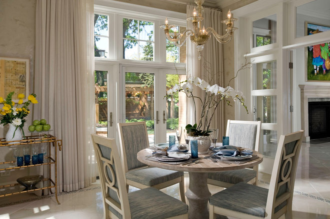 Contemporary Dining Room by Fredman Design Group