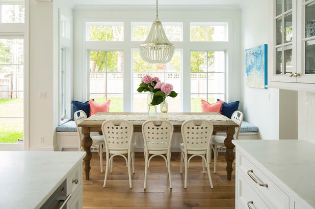 Beach Style Dining Room by Martha O'Hara Interiors