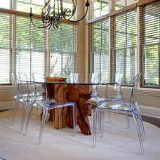 Transitional Dining Room by Sunscape Homes, Inc