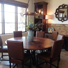 Mediterranean Dining Room by Tweak Your Space