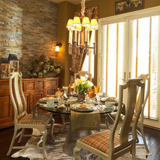 Traditional Dining Room by Interiors by Cary Vogel