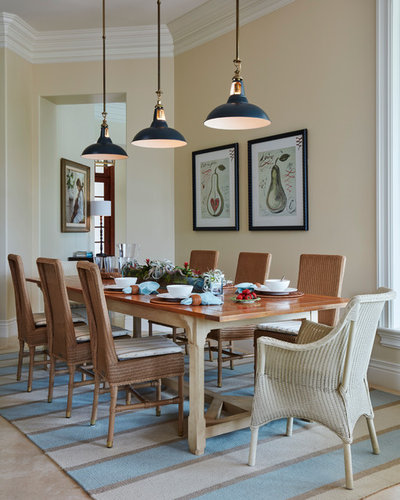 Coastal Dining Room by L K DeFrances & Associates