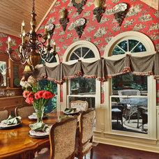 Traditional Dining Room by Valerie Garrett Interior Design