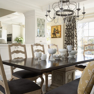 Inspiration for a mid-sized timeless kitchen/dining room combo remodel in Minneapolis with white walls
