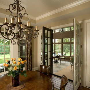 Breakfast Room with Beadboard Ceiling Leads to Screened Porch