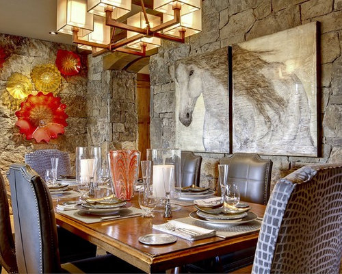 Example Of A Trendy Dining Room Design In Denver