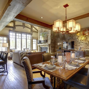 Inspiration for a contemporary dining room remodel in Denver